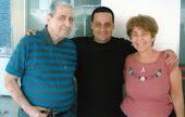 """Meu Pai, eu e Atalia, companheira do meu """"Velho"""". Atalia foi o maior amor da vida do meu velho."""
