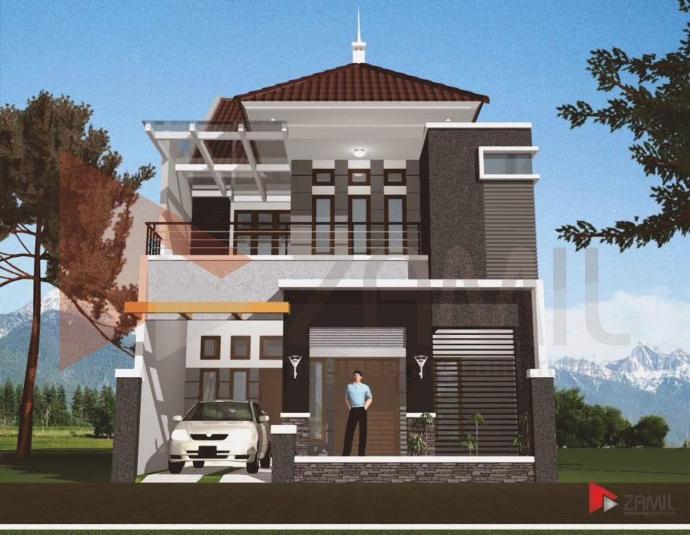 gambar desain renovasi rumah type 45 menjadi 2 lantai