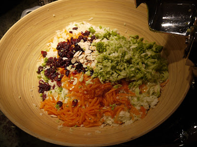 ... : Cooking for a Healthy Future: Cranberry Romanesco Pomegranate Slaw