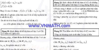 khao sat ham so, khảo sát hàm số, chuyên đề khảo sát hàm số, đại học, 2011
