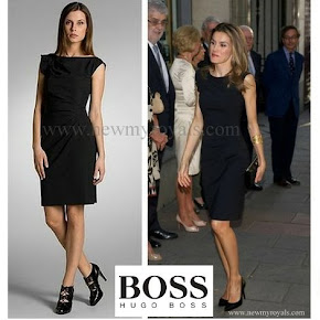 Queen Letizia Style HUGO BOSS Sleeved Dress