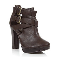 New Look Brown Ankle Boots with buckles