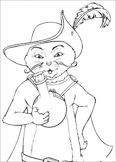 Puss in Boots Shrek Coloring Pages