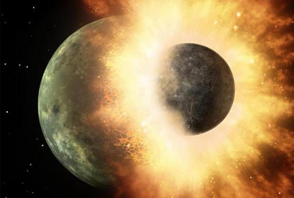 Earth-Moon Smashup Happened Earlier Than Thought