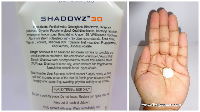 Dr.Reddy's Shadowz SPF 30 Sunscreen Lotion Review