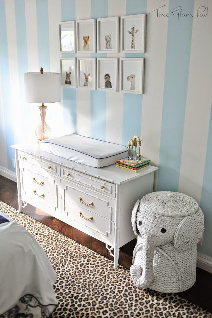 Gold elephant nursery : Note: crib will be kept bumper and stuffed animal free in accordance ...