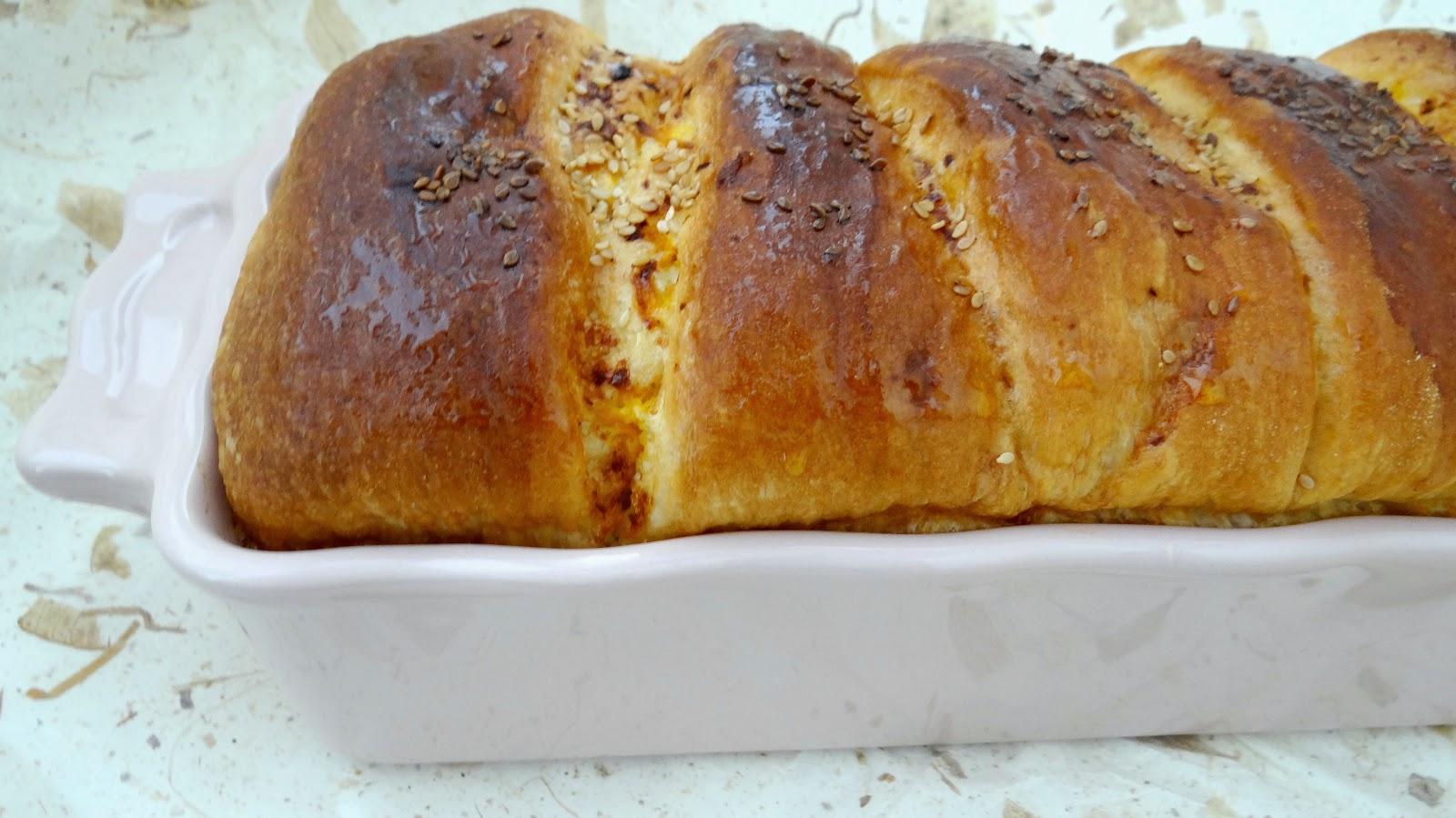 Pan brioche salato con crema di zucca