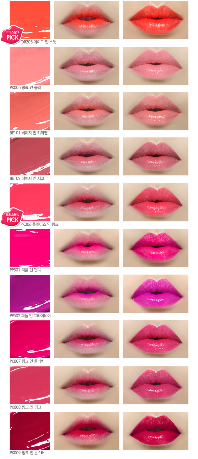 Etude House Color In Liquid Lips Release + Swatches | The Wild Reverie.