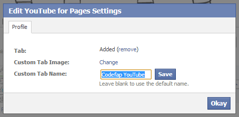 Edit YouTube For Pages Settings