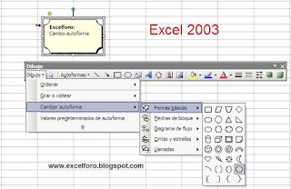 Cambiar forma de un comentario en Excel 2010.