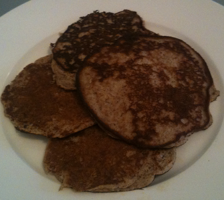 Wheat free banana pancakes from scratch