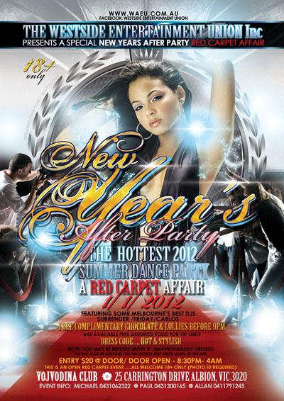 New Year Eve Flyer design Australia
