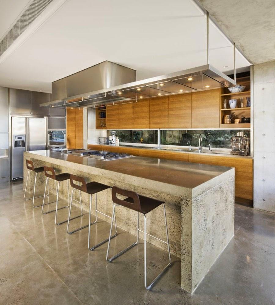 Ideas de islas para cocinas modernas para cocinas de gran for Muebles de cocina modernos con isla