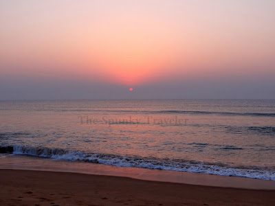 sunrise at Gopalpur beach odisha