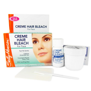 Bleaching products for facial hair ancora