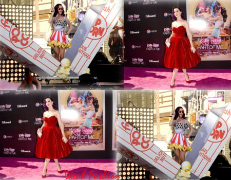 Busana Retro Penuh Warna Katy Perry