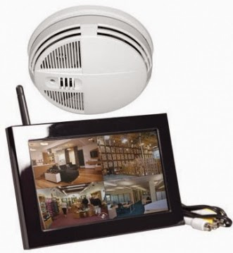 WIRELESS SMOKE DETECTOR (VIEW VIA THE INTERNET) HIDDEN CAMERA WITH NIGHT VISION AND QUAD-VIEW (Buy / Rent / Layaway)