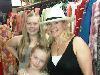 Young smiling monther and daughters with beautiful Panama Hat from The Hat House NY