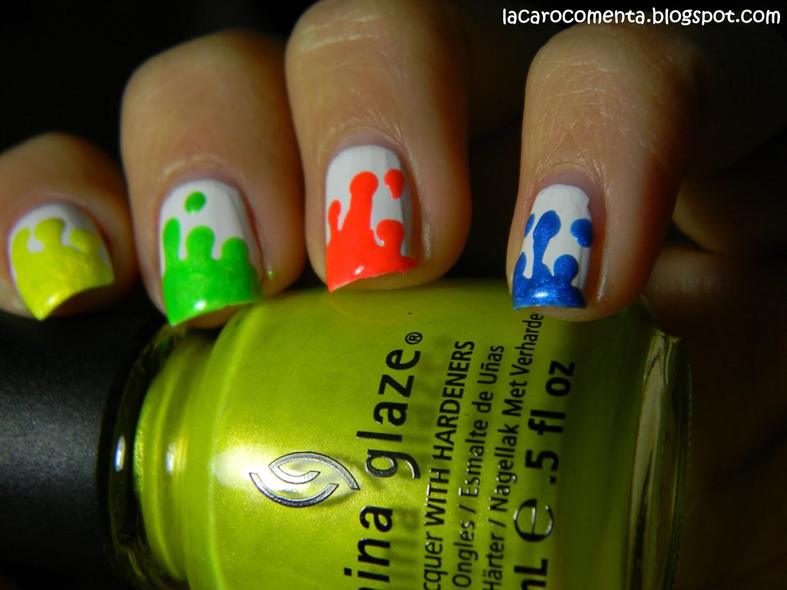 La Caro comenta: Tutorial: Dripping nails o Uñas que gotean