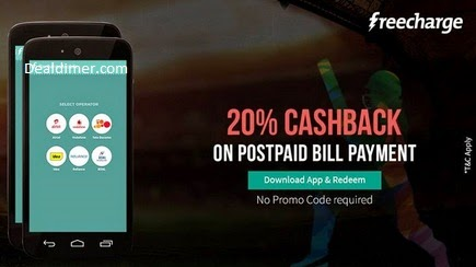 Post Paid Bill Payment & DTH Recharge 20% Cashback – FreeCharge