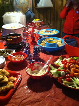 Great Food at Debate Party and Bocciolatt Meet and Greet
