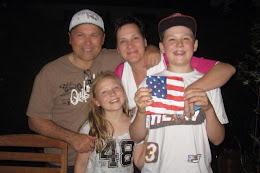 Camcos eine Familie wandert aus