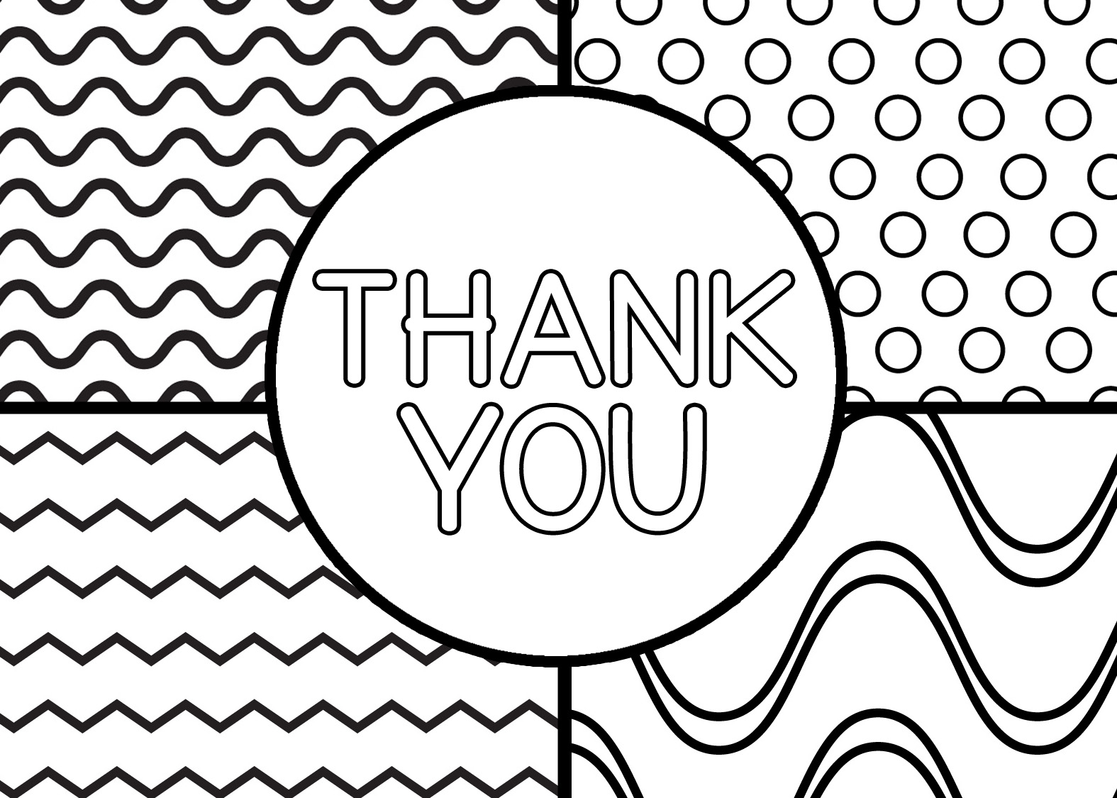 printable thank you coloring pages coloring page