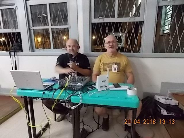 Transmissão da Rádio Comunitária Santa Isabel.
