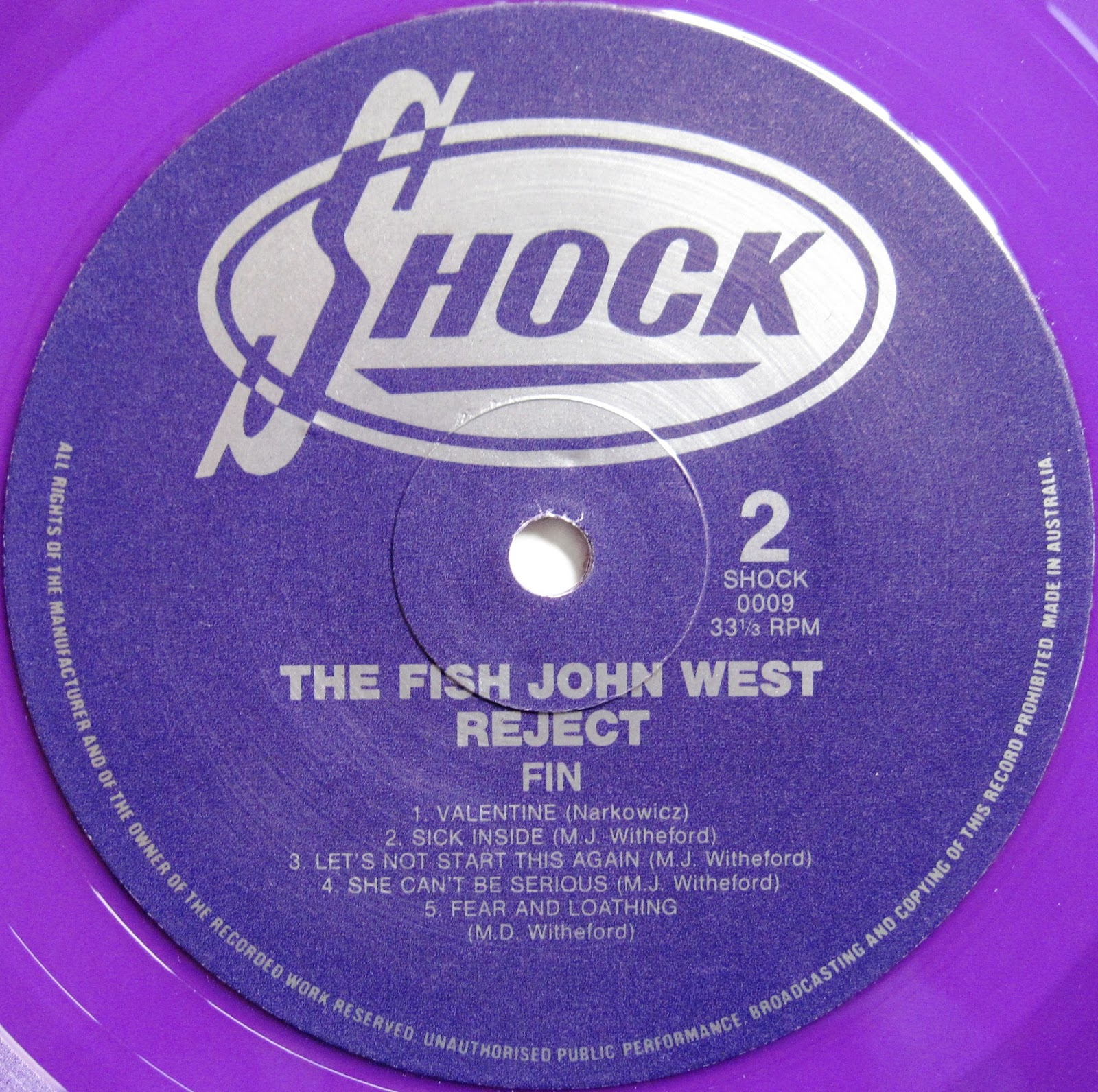 From a northern place the fish john west reject fin lp for The fish place