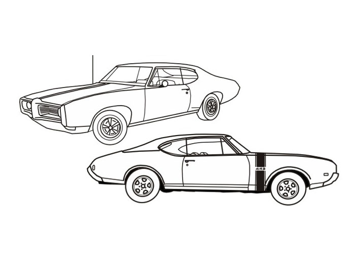 Free Muscle Car Coloring Pages