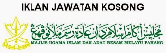 KERJA KOSONG MAJLIS UGAMA ISLAM DAN ADAT RESAM MELAYU PAHANG