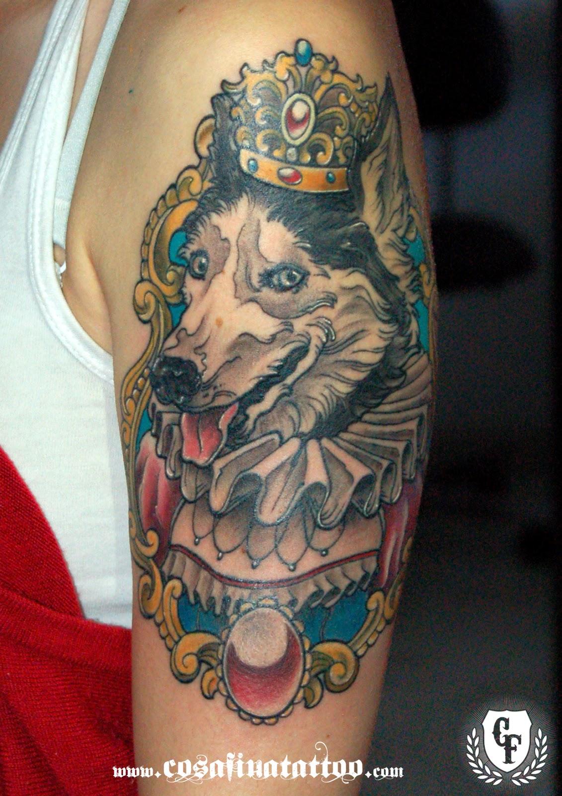 CosaFina tattoo Carlos Art Studio: tatuaje perro husky ...