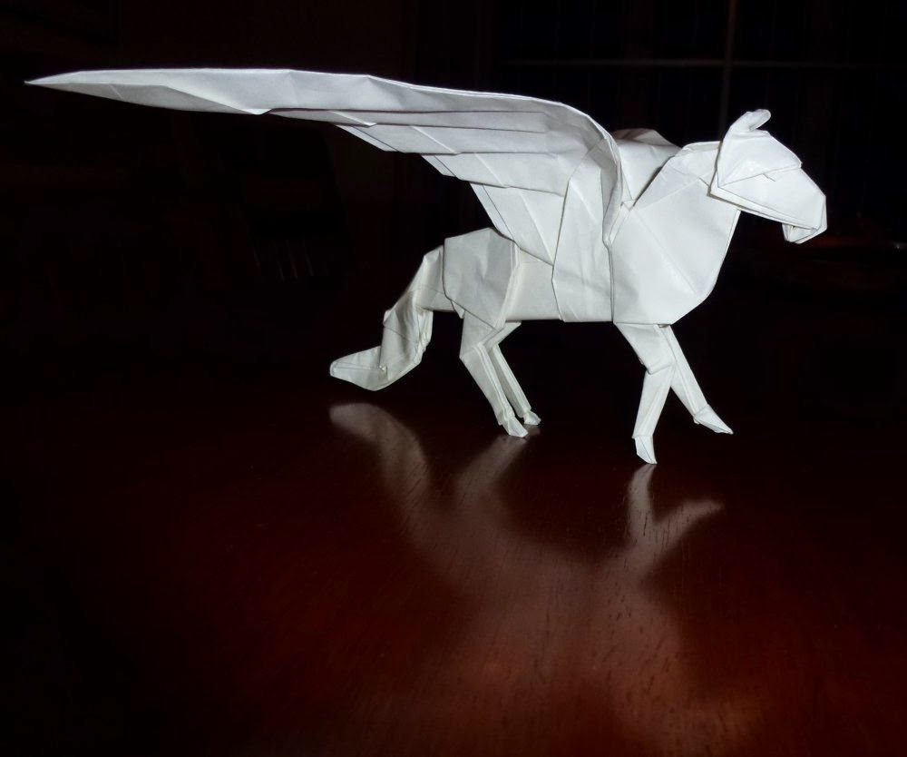 Paper Crafts Origami For Kids Origami Flying Horse
