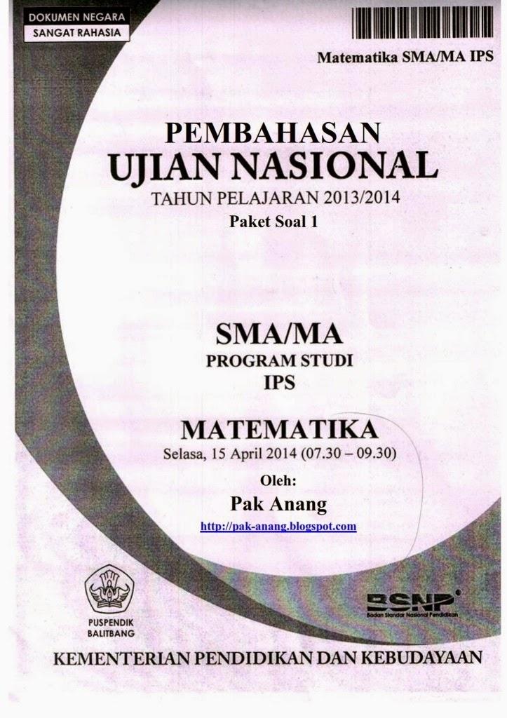 Pembahasan Soal Un Matematika Plan Ips Sma 2014 (Trik Superkilat) (Paket 1)