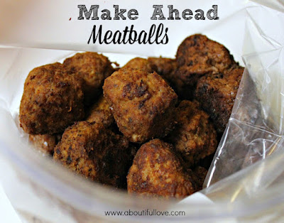 Make Ahead Homemade Meatballs