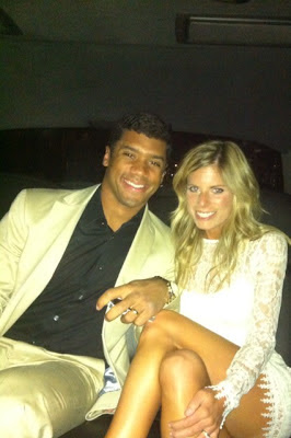 Russell Carrington Wilson and his wife