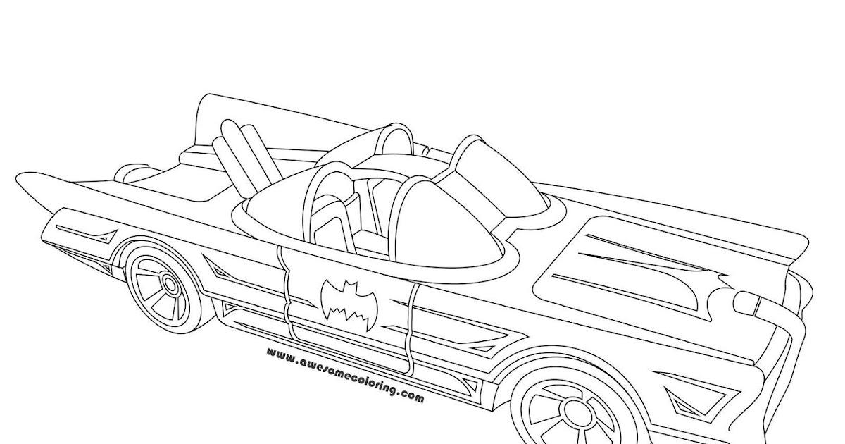 Hot Wheels 1966 Batmobile Coloring Page