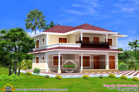 Awesome looking typical kerala model house kerala home for New model houses in kerala