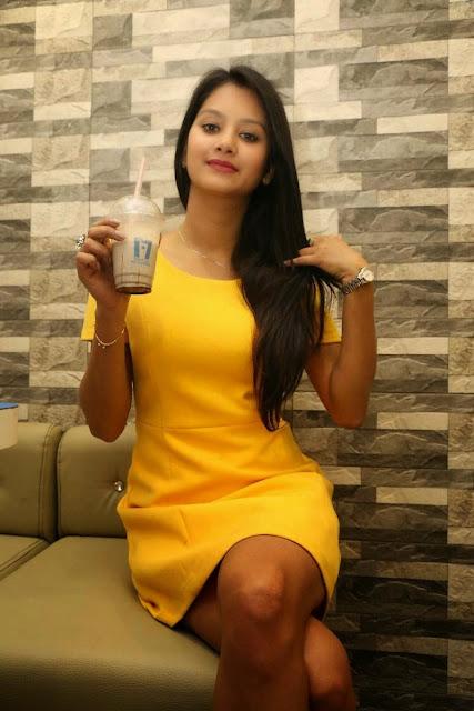 Monika Singh Stills At Makers of Milk Shakes Opening