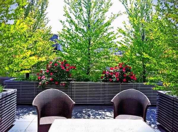 ... jardinières pour décorer votre terrasse, balcon ou une zone de toit