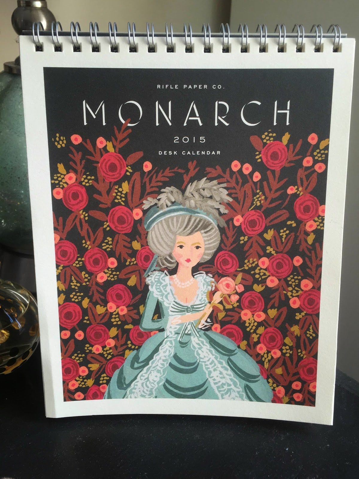Rifle Paper Co Monarch Flip Desk Anna Bond Queen Illustrations