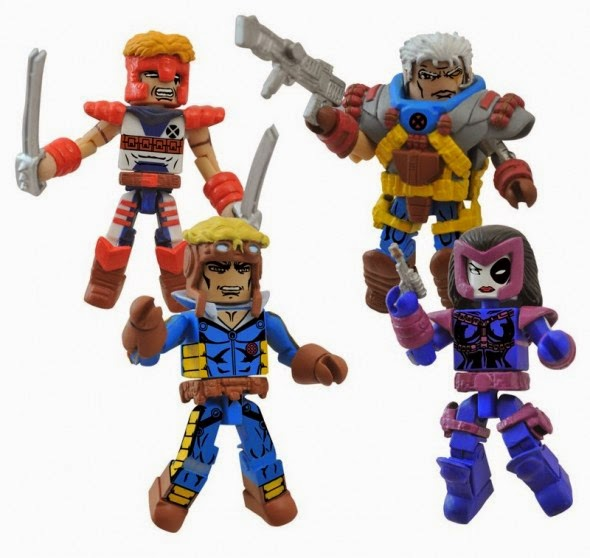 Classic X-Force Marvel Minimates Box Set - Cable, Domino, Cannonball & Shatterstar