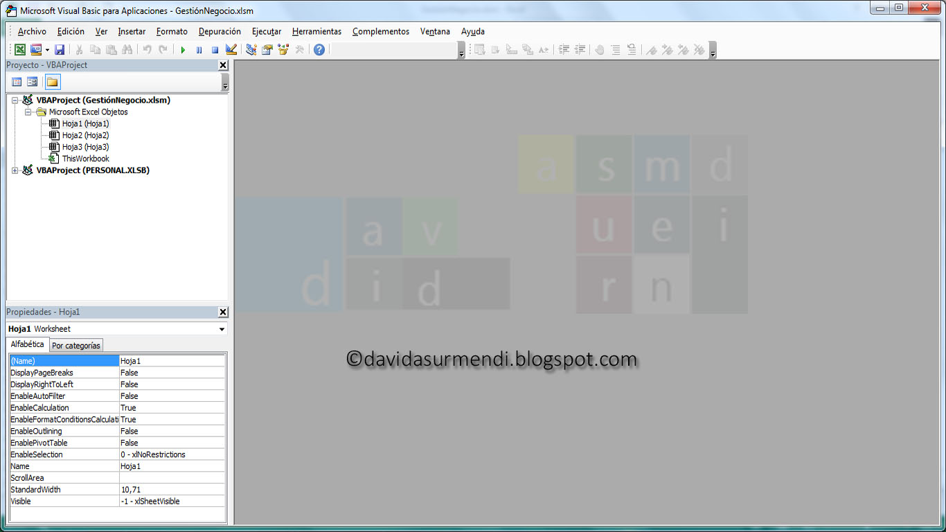 Editor de Visual Basic en Excel 2013