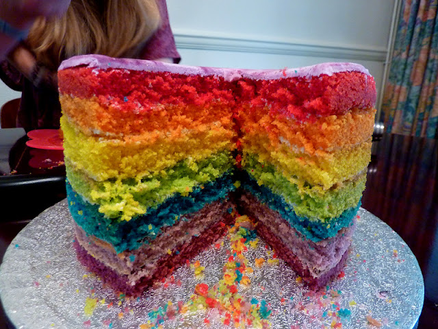How To Make A Seven Layer Rainbow Cake