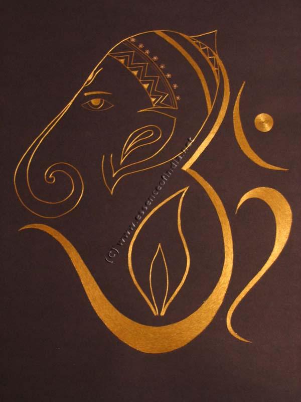 God Ganesh With Om God Wallpapers