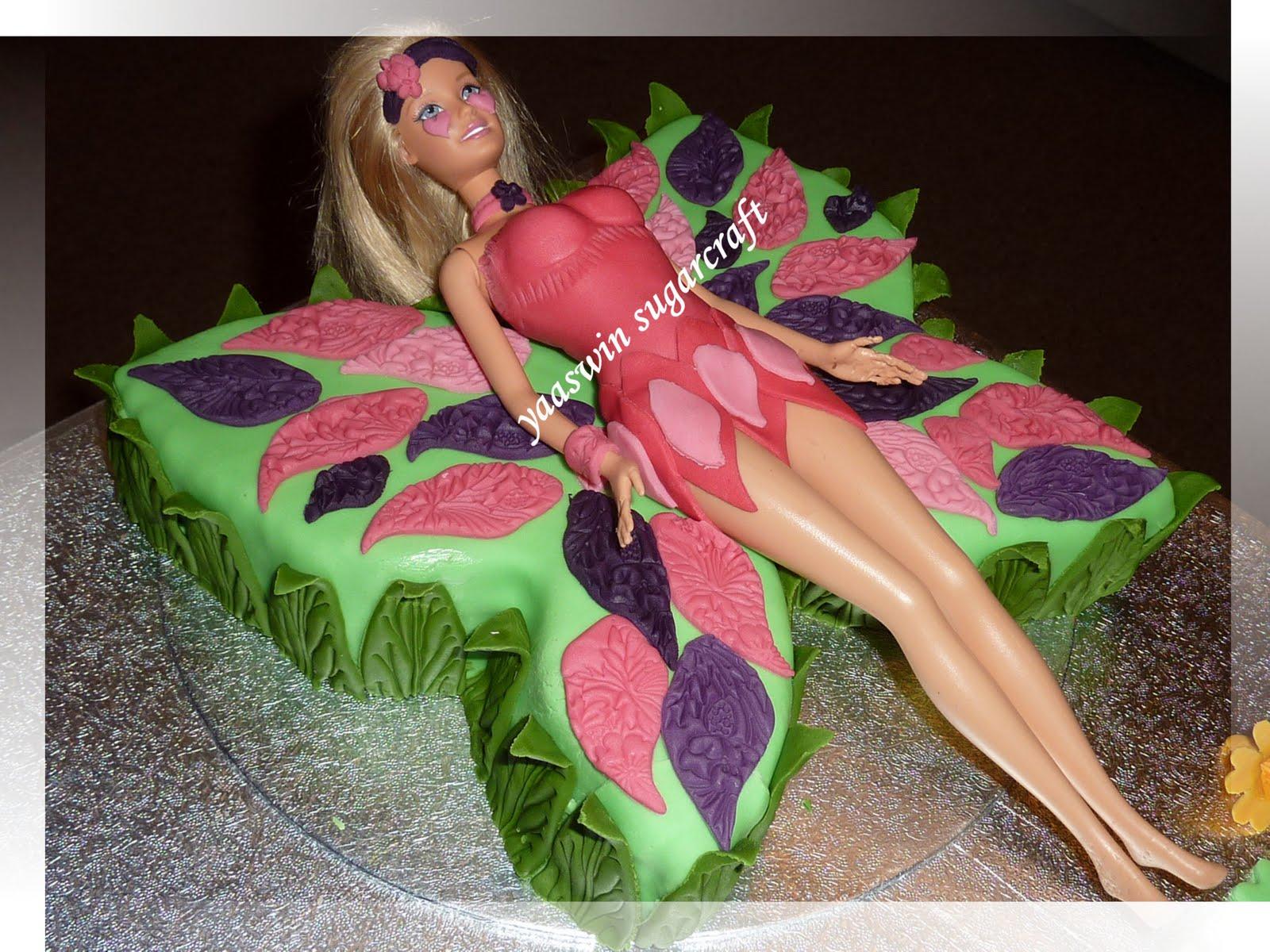 Barbie Chocolate Cake Images : Yaaswin Sugarcraft & Cakes: Barbie Mariposa Chocolate cake
