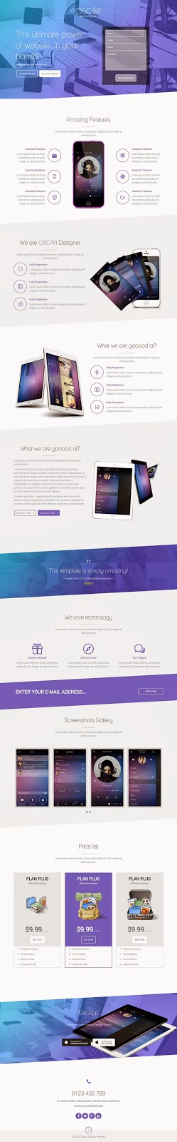 Best Responsive App Landing Page