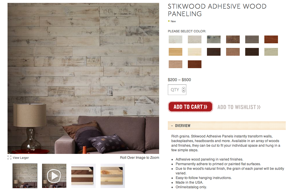 Stikwood: Peel & Stick Real Wood Paneling! Home Decorating Girl - Stick On Wood Paneling WB Designs