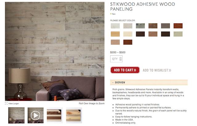 Stikwood: Peel & Stick Real Wood Paneling! - My Notting Hill: Stikwood: Peel & Stick Real Wood Paneling!