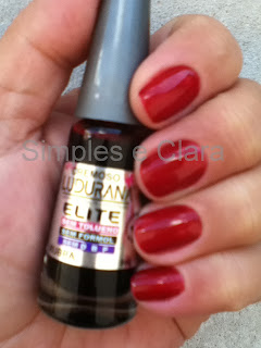 Esmalte vermelho ludurana Rubra, antialérgico,blog simples e clara